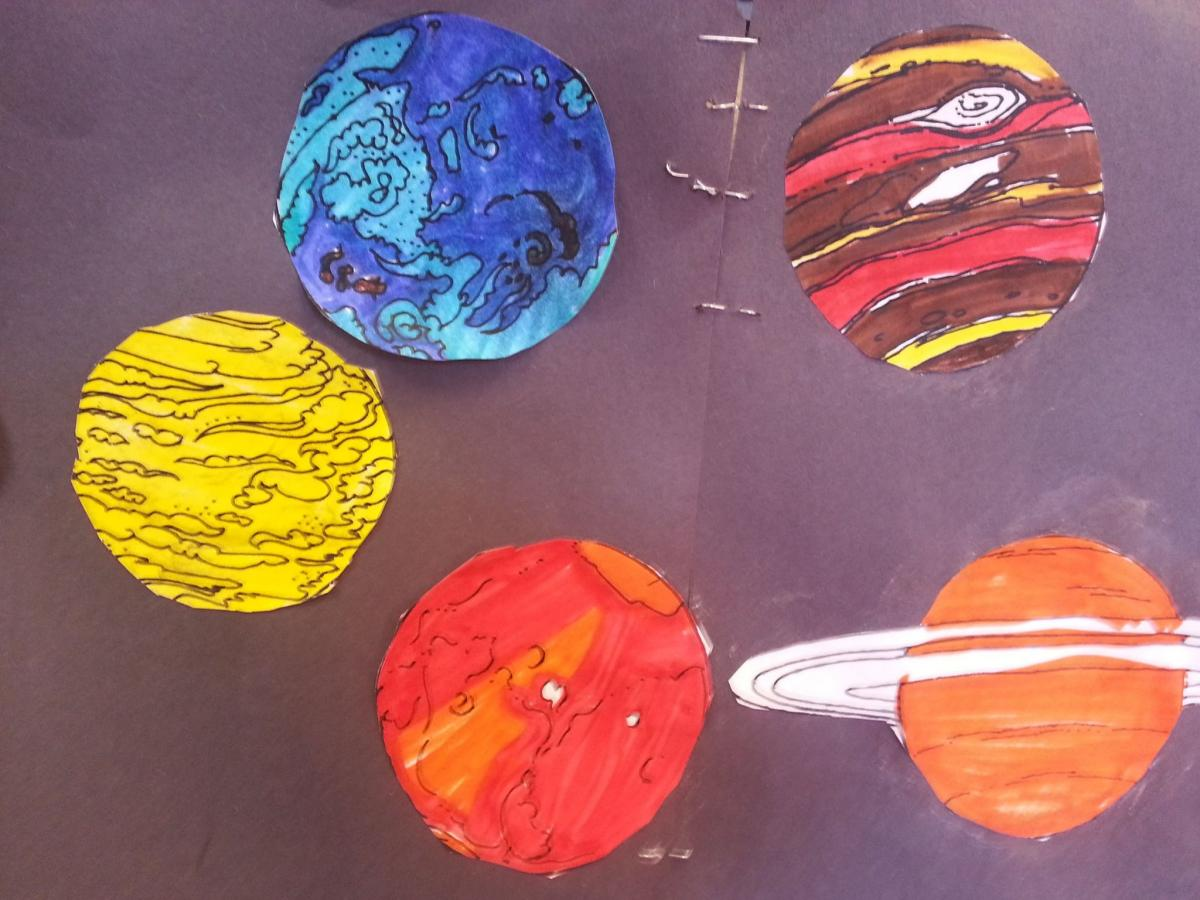 "Sample project form ""Learning About Planets"" hosted at the APO Office on Feb. 21, 2017."